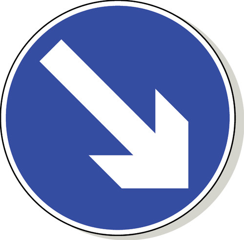 Keep right traffic sign