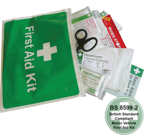 Car and Taxi First Aid Kit in Vinyl Zipper Wallet