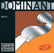 Dominant 4/4 Cello D String - Chrome