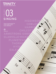 Trinity College London Singing 2018-2021 Book & CD - Grade 3