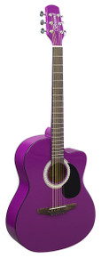 Brunswick Junior Auditorium Acoustic Cutaway Purple Gloss Guitar