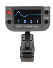 Korg AW-OTB-POLY OLED Display Polyphonic Clip-On Bass Guitar Tuner