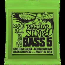 Ernie Ball Regular Slinky .045 - .130 Nickel Wound 5-String Bass Guitar Strings