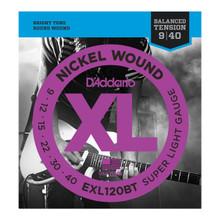 D'Addario EXL120BT Balanced Tension Super Light .009 - .040 Nickel Wound Electric Guitar Strings