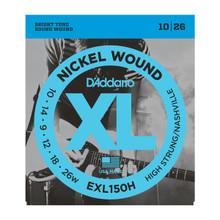 D'Addario EXL150H High Strung/Nashville Tuning .010 - .026w Nickel Wound Electric Guitar Strings