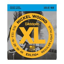 D'Addario EXL110+ Regular Light Plus .0105 - .048 Nickel Wound Electric Guitar Strings