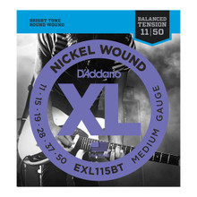 D'Addario EXL115BT Balanced Tension Medium .011 - .050 Nickel Wound Electric Guitar Strings