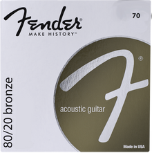 Fender 70CL Custom Light .011 - .052 80/20 Bronze Acoustic Guitar Strings