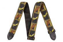 Fender Monogrammed Black/Yellow/Brown Guitar Strap