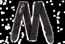 Fender Black Polyester Grey Logo Guitar Strap