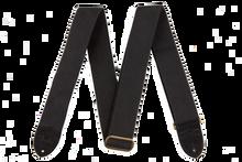 Fender Cotton Leather Black Guitar Strap