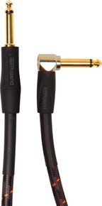 Roland Gold Series Instrument Cable - 15ft Angled