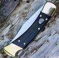 Buck 110 Auto Opening Lockback Folding Pocket Knife BU110BRSA 110BRSA