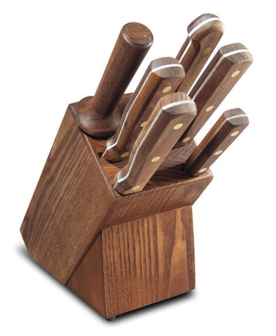 Dexter Traditional Knife Slant Block Set Walnut Handles VB3942