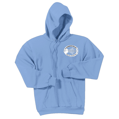 Fishbone Knives Cotton Sweatshirt - Light Blue - XL