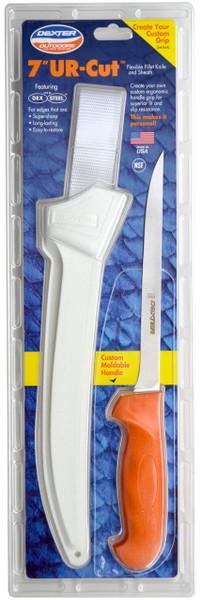 "Dexter Russell UR-Cut 7"" Flexible Fillet Knife Moldable Handle & Sheath 24673 UC133-7WS1-PCP"