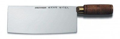 """Dexter Traditional 8"""" x 3 1/4"""" Chinese Chef's Knife Walnut Handle 08051 8915 (08051)"""