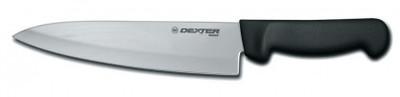 "Dexter Russell Basics 8"" Cooks Knife Black Handle 31600B P94801B (31600B)"