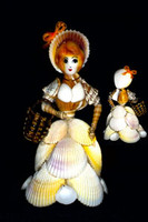 White Cockle Natural Shell Doll
