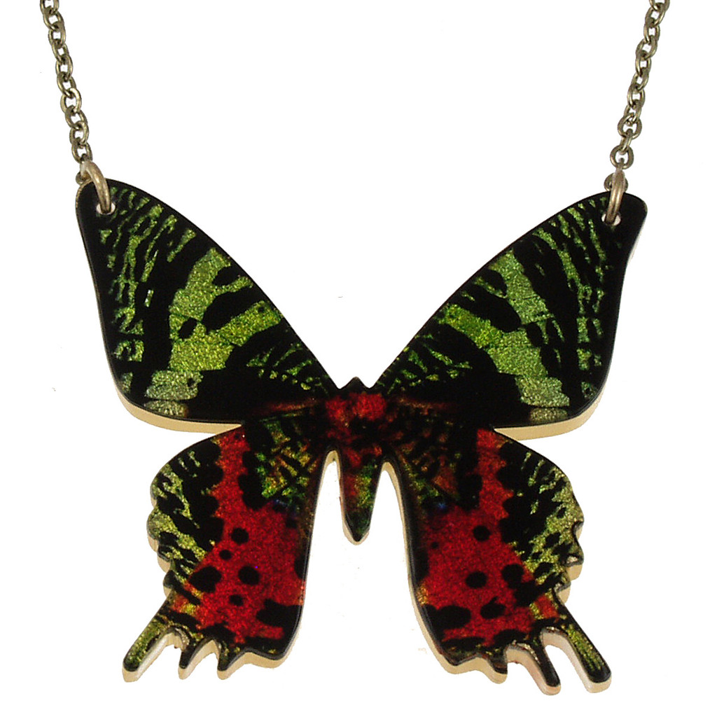 "4127-5 -Full 2"" Sunset Moth Pendant"