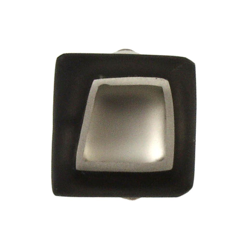 1873-9 - Irregular Squares Clip Earring White
