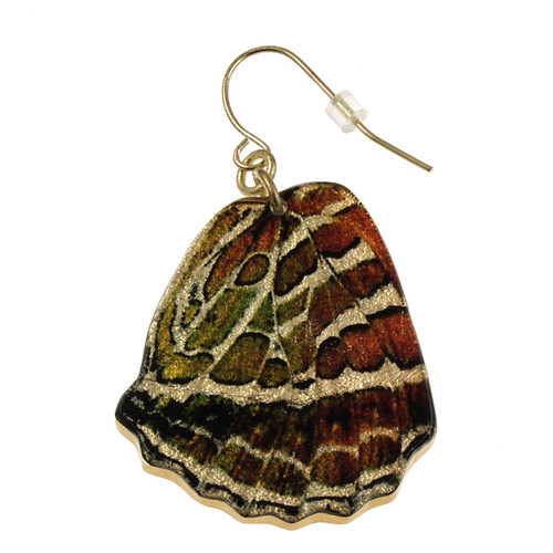 """4122-2 -Large 1 1/2"""" Crescent Butterfly Wing Earring"""