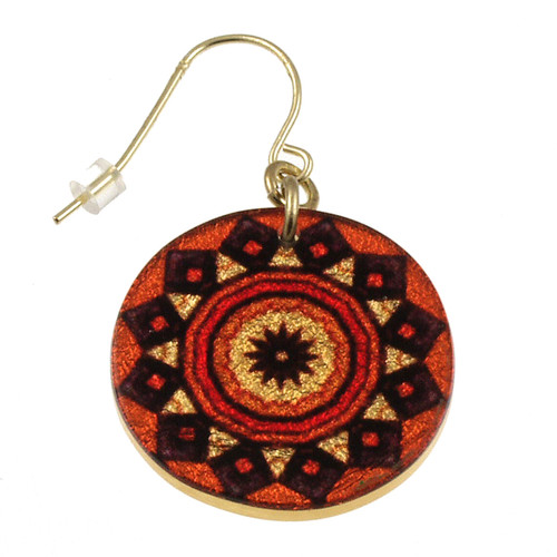 4120-138 - Orange Tribal Earring