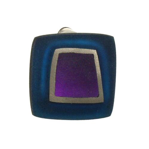 1873-21 - Irregular Squares Clip Earring Purple