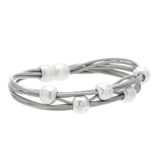 6140-1 - Matte Silver/Grey Magnetic Bracelet