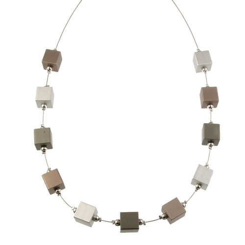 5118-63 - Multi-Cube Magnetic Neck Coffee Gold/Silver/Gunmetal