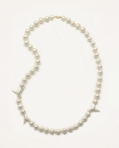 Shark Teeth & Pearl Necklace by Fine Jewelry Designer Nektar De Stagni