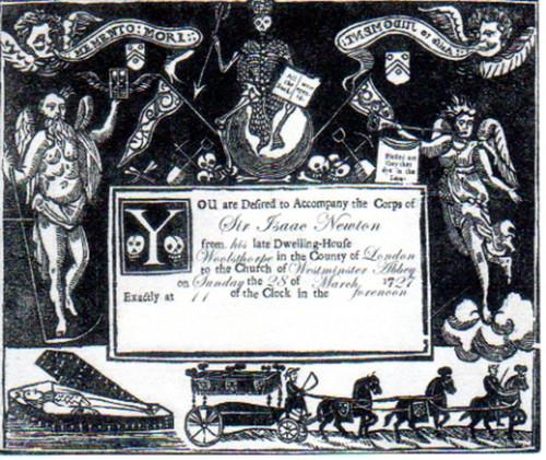 DaVinci Code, Sir Issac Newtons Funeral Invitation, Tom Hanks