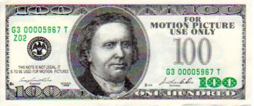 Punisher, Real Prop $100 Money,Type B, John Travolta, Thomas Jane