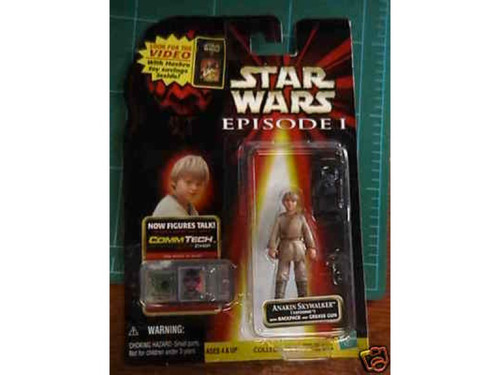 Star Wars Ep 1, Anakin CommTech Figure, New