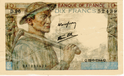 Inglorious Basterds French Currency Real Prop