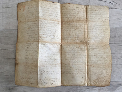 Thomas Lord Fairfax  Signed Revolutionary War Era Land Deed 1778 PSA/DNA Authenticated