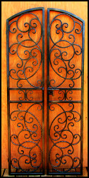 Bordeaux Double Iron Wine Cellar Gate - Custom Sizes