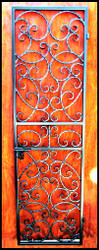 Bordeaux Iron Wine Cellar Gate Single Door - Custom Sizes