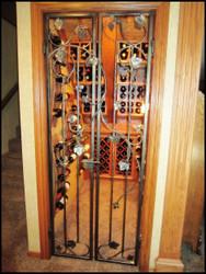 The Chardonnay Grapevine Double Iron Wine Cellar Gate