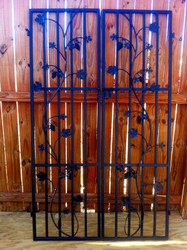 Charlotte Grapevine Iron Wine Cellar Double Door - 48 inches wide by 80 or 96 inches tall