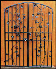 Charlotte Grapevine Double Iron Wine Cellar Door. 60 inches wide by 80 or 96 inches tall.