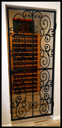 Falcon Crest Iron Wine Cellar Door or Gate - 32 inches wide