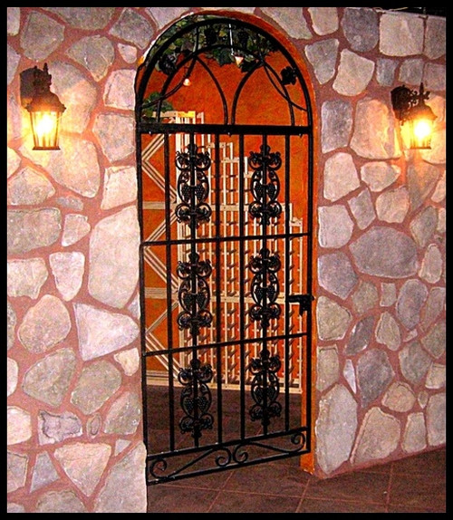 Le Chateau Grapevine 6 Panel Iron Wine Cellar Gate   Custom Sizes