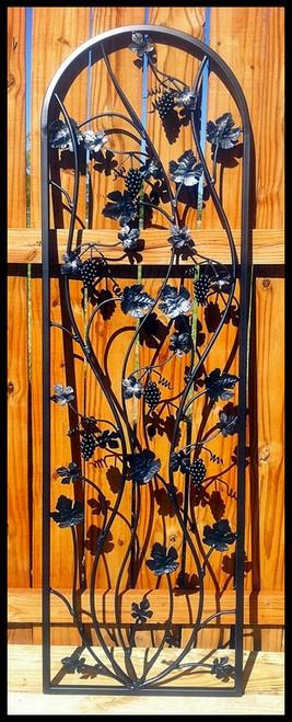 Artistic Grapevine Iron Wine Cellar Door 24\  X 80\  & Artistic Grapevine Iron Wine Cellar Door 24\