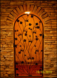 "Artistic Grapevine Iron Wine Cellar Door or Gate 36"" X 80"""