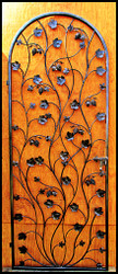 "Artistic Grapevine Wine Cellar Door or Gate 94"" tall for 8 foot doorways"