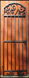 Tall Whimsical Iron Wine Cellar Door - 96 inches tall