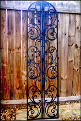 "Tuscany Style Wrought Iron Wine Cellar Door 24"", 28"" or 30"" by 96"", Single or Double Door"