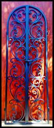 Tuscany Style Wrought Iron Wine Cellar Double Door