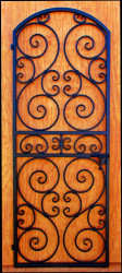 "Scalloped Scroll Iron Wine Cellar Door or Gate 30"" X 80"""